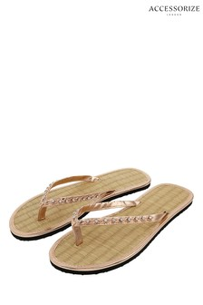 Accessorize Black Seagrass Flip Flop