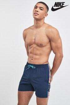 Nike Navy Retro Stripe Swim Short