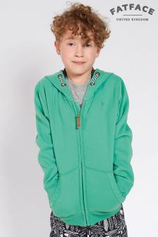 FatFace Bright Green Mountain Beach Zip Through Hoody