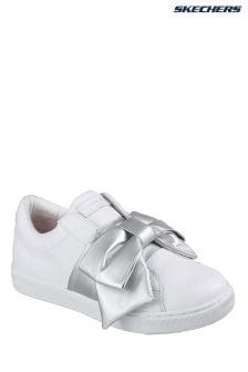 Skechers® White Prima Little Bow