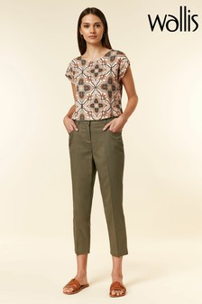 Wallis Green Cropped Trouser