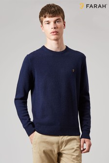 Farah Rosecroft Wool Crew Neck Jumper