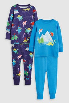 Dino Snuggle Fit Pyjamas Two Pack (9mths-8yrs)