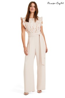 Phase Eight Pink Victoriana Foil Print Jumpsuit