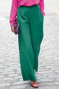Teal                     Wide Leg Trousers