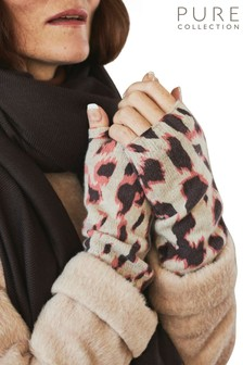 Pure Collection Animal Cashmere Mittens