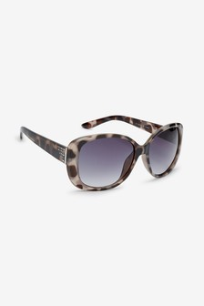 Tortoiseshell Effect Ombre Bling Sunglasses