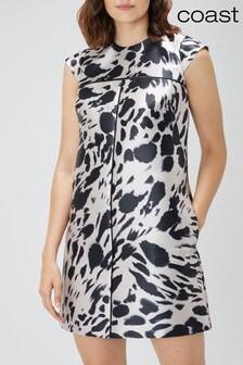 Coast Freida Animal Print Twill Shift Dress