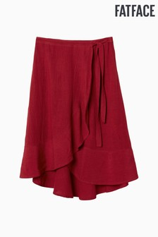 FatFace Red Mila Wrap Skirt