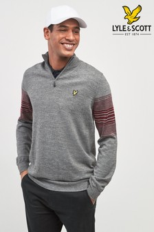 Lyle & Scott Golf Stripe Quarter Zip Jumper