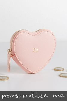 Personalised Pink Heart Purse