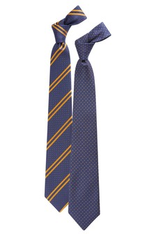 Spot And Stripe Tie Two Pack
