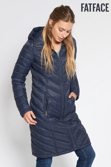 FatFace Navy Louisa Longline Padded Jacket