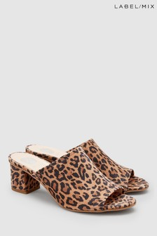 Mix/Hudson Leopard Heeled Mule