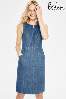 Boden Blue Helena Chino Dress