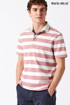 White Stuff Pink Pitchside Stripe Rugby T-Shirt