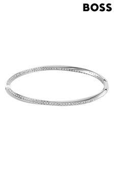 BOSS Signature Stainless Steel Swarovski® Bangle