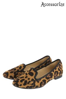 Accessorize Leopard Luna Leopard Print Slipper Shoe