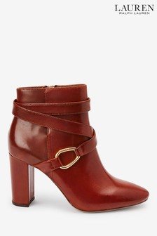 Bottines Ralph Lauren Addington fauve en cuir