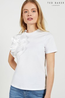 Ted Baker Jessea Relaxed Cotton Frill T-Shirt