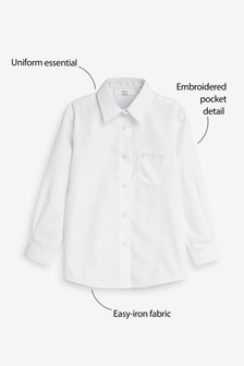 Embellished Pocket Long Sleeve Shirt (3-16yrs)