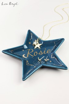 Personalised Star Shape Trinket Dish by Lisa Angel