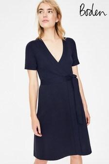שמלת מעטפת כחולה מדגם Mira Ponte של Boden