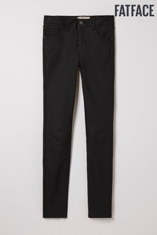 FatFace Black Skye Skinny Coated Trousers
