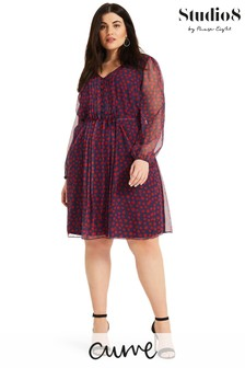 Studio 8 Blue Jada Spot Dress