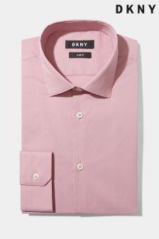 DKNY Slim Fit Dusty Pink Single Cuff Stretch Shirt
