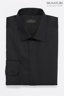 Signature Sateen Concealed Placket Shirt