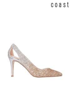 Coast Silver Cindy Ombre Glitter Heels