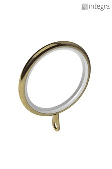 12 Pack Integra Antique Brass 28mm Curtain Rings