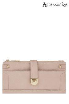 Accessorize Blush Fliplock Foldover Wallet