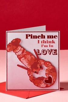 Valentines Lobster Card