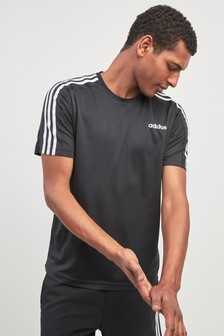 adidas Gym DTM 3 Stripe T-Shirt