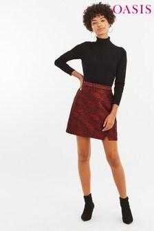 Oasis Multi Animal Jacquard Skirt
