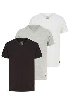 Lyle & Scott V-Neck Lounge T-Shirts 3 Pack