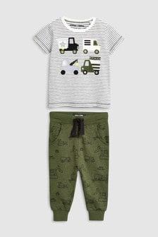 Vehicle T-Shirt And Jogger Set (3mths-7yrs)