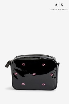 Armani Exchange Grace Black And Rose Cross Body Bag