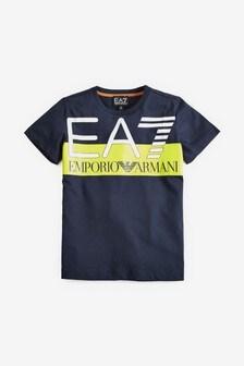 EA7 White Big Logo T-Shirt