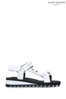 Kurt Geiger London White Orion Sandals