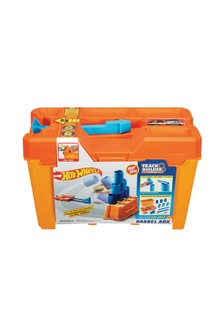 Hot Wheels Track Builder Box With Stunt Barrels And Launcher