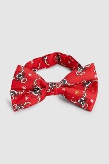 Rudolph Print Novelty Bow Tie