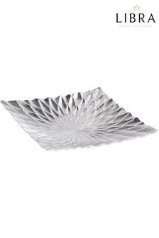 Libra Square Starburst Silver Platter
