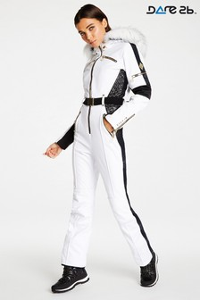 Dare 2b Julien Macdonald White Waterproof Ski Suit