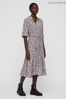 AllSaints Ditsy Floral Shirt Dress