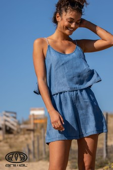 Animal Blue Shake It Woven Playsuit