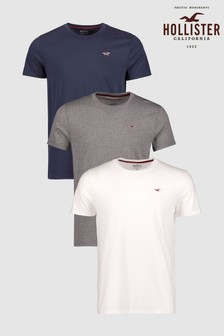 Hollister Basic Kurzarm-Shirts im 3er-Pack, multi
