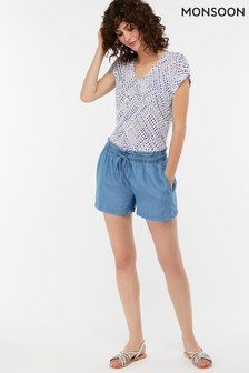 Monsoon Ladies Blue Daria Short